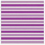 [ Thumbnail: Purple and Light Cyan Stripes Fabric ]