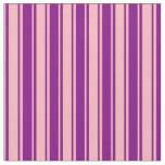 [ Thumbnail: Purple and Light Pink Colored Lined Pattern Fabric ]