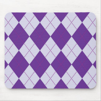 Purple and Light Purple Argyle Pattern Mouse Pad