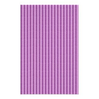 Purple and Light Purple Stripes Stationery