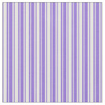[ Thumbnail: Purple and Light Yellow Colored Stripes Fabric ]