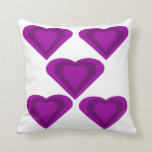 Purple and Lilac Love Hearts Pillow Cushion