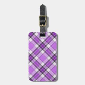 Purple And Lilac Tartan Bag Tag