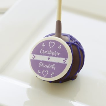 Bride Themed Purple and Lilac Wedding Favor Cake Pops