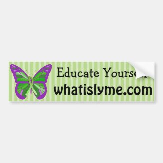 Purple and Lime Green Butterfly Lyme Disease