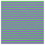 [ Thumbnail: Purple and Lime Green Colored Lined Pattern Fabric ]