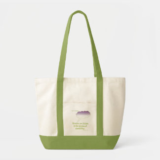 purple and lime miracles are hidden cloud impulse tote bag