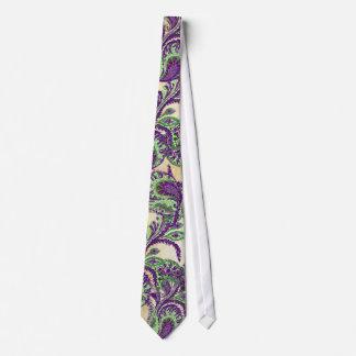 Purple and Lime Paisley Wedding Tie