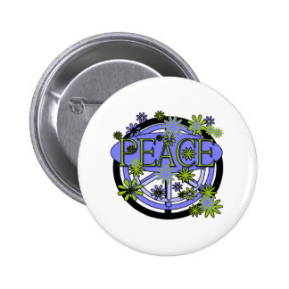 Purple and Lime Peace 2 Inch Round Button