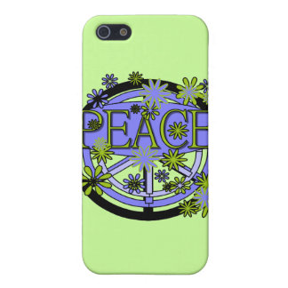 Purple and Lime Peace and Gifts iPhone 5 Covers