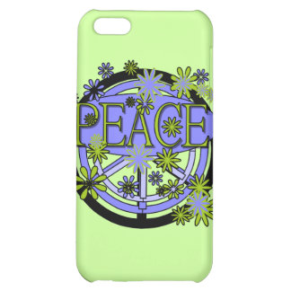 Purple and Lime Peace and Gifts iPhone 5C Case