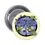 Purple and Lime Peace T-shirts and Gifts Pinback Button