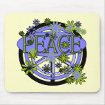 Purple and Lime Peace T-shirts and Gifts Mouse Pad