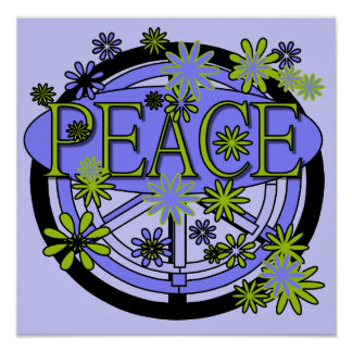 Purple and Lime Peace T-shirts and Gifts Print