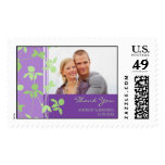 Purple and Lime Thank You Wedding Stamps
