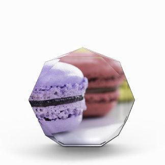 Purple and Maroon French Macaron Cookies Acrylic Award