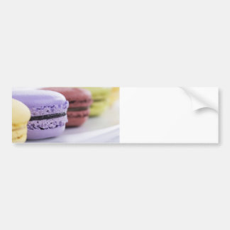 Purple and Maroon French Macaron Cookies Bumper Sticker