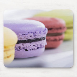 Purple and Maroon French Macaron Cookies Mouse Pad