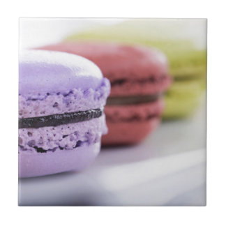 Purple and Maroon French Macaron Cookies Tile