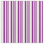 [ Thumbnail: Purple and Mint Cream Colored Pattern Fabric ]