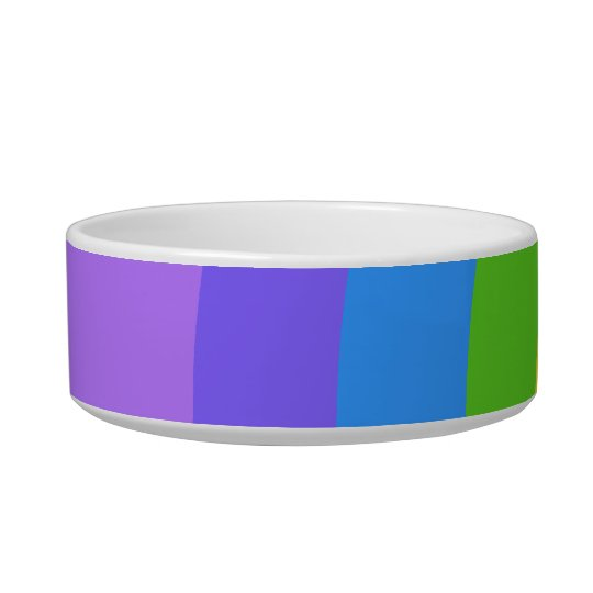 Purple and Multicolor Abstract. Bowl