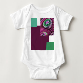 Purple and multicolored baby bodysuit