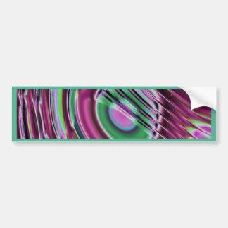 Purple and multicolored car bumper sticker