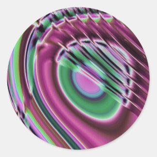 Purple and multicolored classic round sticker
