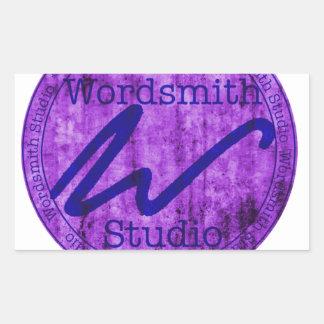 Purple and Navy WSS Logo Rectangular Sticker