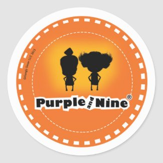 Purple and Nine Logo sticker