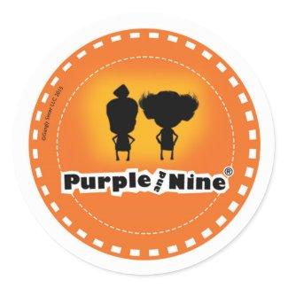 Purple and Nine Logo sticker