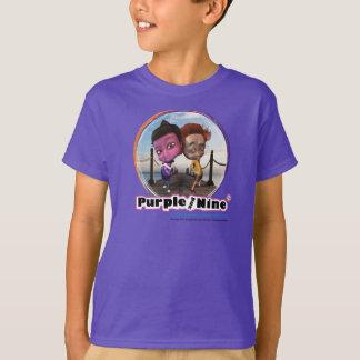 Purple and Nine purple kids T T-Shirt