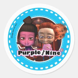 Purple and Nine Sticker