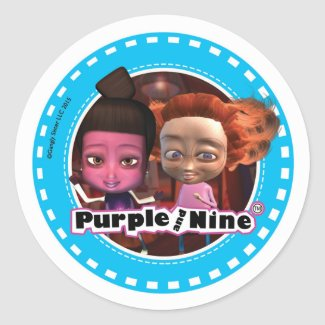 Purple and Nine Sticker