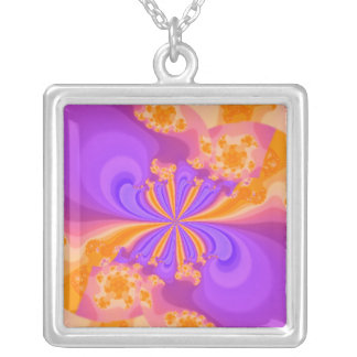 Purple and Orange Abstract Necklace
