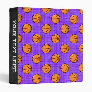 Purple and Orange Basketball Pattern Binder