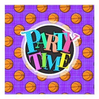 Purple and Orange Basketball Pattern Card