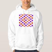 Purple and Orange Basketball Pattern Hoodie