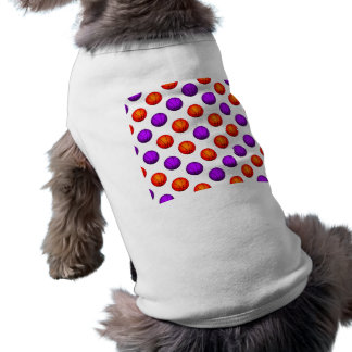 Purple and Orange Basketball Pattern Shirt