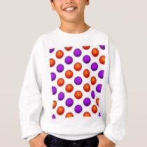 Purple and Orange Basketball Pattern Sweatshirt
