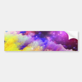 Purple and orange cosmos bumper sticker