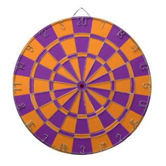 Purple And Orange Dartboard