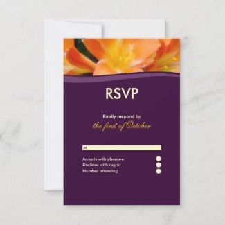 Purple and Orange Floral  Response Card
