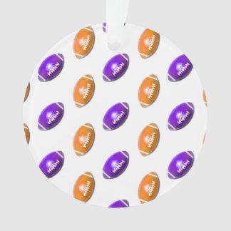 Purple and Orange Football Pattern