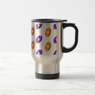 Purple and Orange Football Pattern Mug