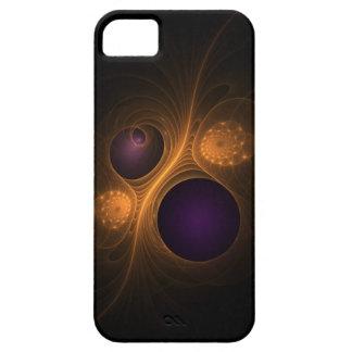 Purple and Orange fractal galaxies iPhone 5 Cases