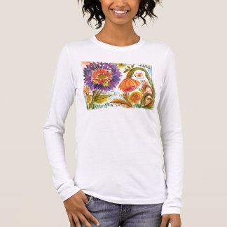Purple and Orange garden Long Sleeve T-Shirt