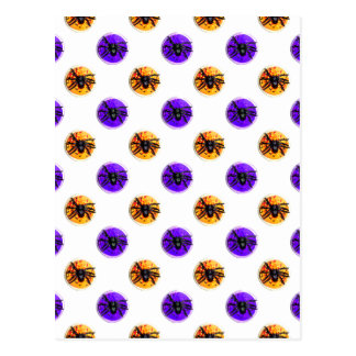 Purple and Orange Halloween Cookie Pattern Post Cards