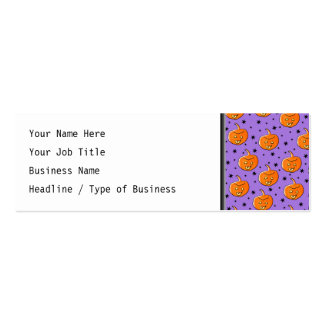 Purple and Orange Halloween Pattern Double-Sided Mini Business Cards (Pack Of 20)