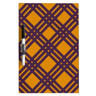 Purple and Orange Lattice Dry-Erase Whiteboard